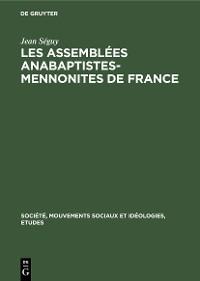 Cover Les assemblées Anabaptistes-Mennonites de France