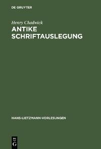 Cover Antike Schriftauslegung