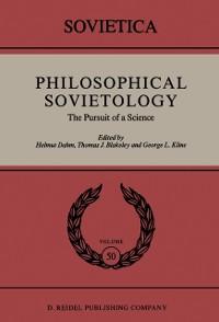 Cover Philosophical Sovietology