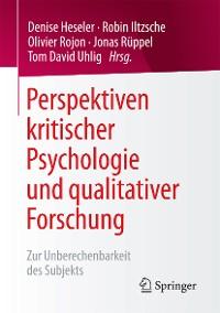 Cover Perspektiven kritischer Psychologie und qualitativer Forschung