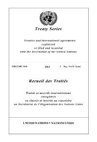 Cover Treaty Series 2958/Recueil des Traités 2958