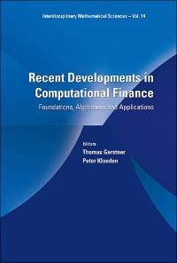 Cover Recent Developments in Computational Finance