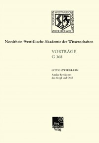 Cover Antike Revisionen des Vergil und Ovid