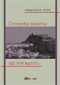 Cover Cronache caiatine del XVIII secolo