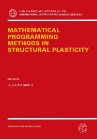 Cover Mathematical Programming Methods in Structural Plasticity
