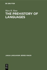 Cover The Prehistory of Languages
