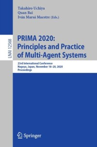 Cover PRIMA 2020: Principles and Practice of Multi-Agent Systems