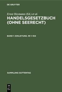 Cover Erstes Buch: Einleitung. §§ 1–104