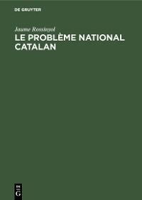 Cover Le problème national catalan