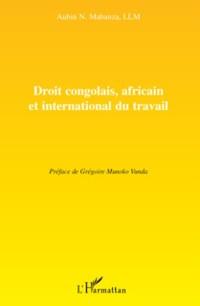Cover Droit congolais, africain et international du travail