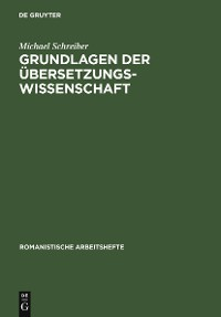 Cover Grundlagen der Übersetzungswissenschaft