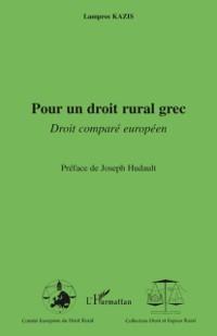 Cover Pour un droit rural grec - droit compare europeen