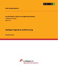 Cover Geistiges Eigentum und Normung