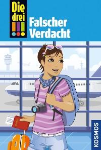 Cover Die drei !!!, 75, Tatort Hollywood 1: Falscher Verdacht (drei Ausrufezeichen)