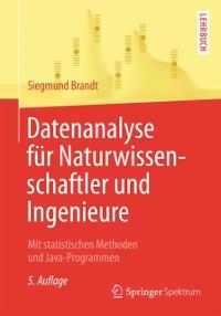 Cover Datenanalyse fur Naturwissenschaftler und Ingenieure