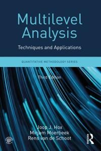 Cover Multilevel Analysis
