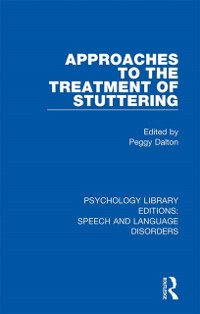 Cover Approaches to the Treatment of Stuttering