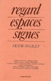 Cover Regard, espaces, signes