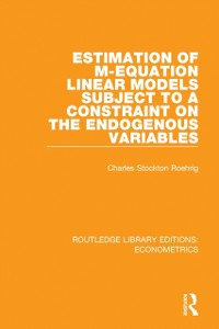 Cover Estimation of M-equation Linear Models Subject to a Constraint on the Endogenous Variables