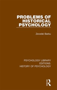 Cover Problems of Historical Psychology