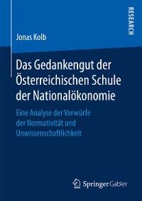 Cover Das Gedankengut der Österreichischen Schule der Nationalökonomie