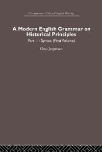 Cover Modern English Grammar on Historical Principles