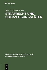 Cover Strafrecht und Überzeugungstäter