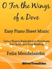 Cover O For the Wings of a Dove Easy Piano Sheet Music