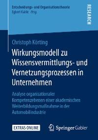 Cover Wirkungsmodell zu Wissensvermittlungs- und Vernetzungsprozessen in Unternehmen