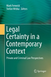 Cover Legal Certainty in a Contemporary Context