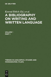 Cover A Bibliography on Writing and Written Language
