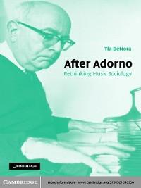 Cover After Adorno