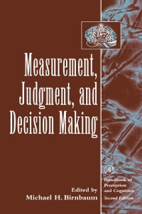 Cover Measurement, Judgment, and Decision Making