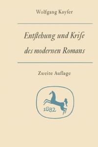 Cover Entstehung und Krise des modernen Romans