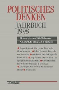 Cover Politisches Denken. Jahrbuch 1998