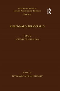 Cover Volume 19, Tome V: Kierkegaard Bibliography