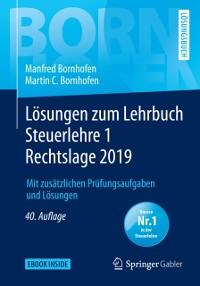 Cover Losungen zum Lehrbuch Steuerlehre 1 Rechtslage 2019