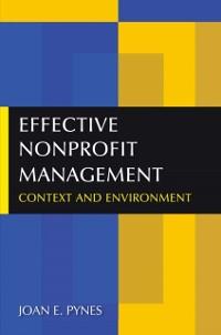 Cover Effective Nonprofit Management