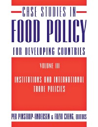 Cover Case Studies in Food Policy for Developing Countries