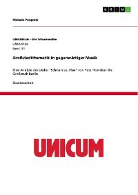 Cover Großstadtthematik in gegenwärtiger Musik