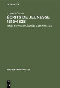 Cover Écrits de jeunesse 1816–1828