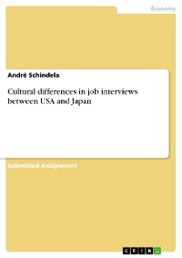 Cover Cultural differences in job interviews between USA and Japan