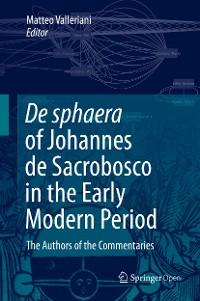 Cover De sphaera of Johannes de Sacrobosco in the Early Modern Period