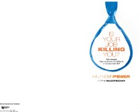 Cover Is Your Job Killing You?