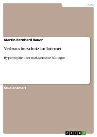 Cover Verbraucherschutz im Internet