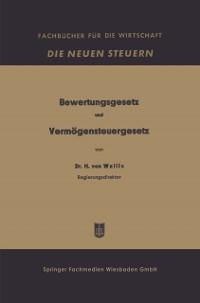 Cover Bewertungsgesetz und Vermogensteuergesetz