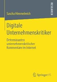Cover Digitale Unternehmenskritiker