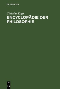 Cover Encyclopädie der Philosophie