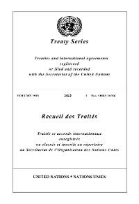 Cover Treaty Series 2935/Recueil des Traités 2935