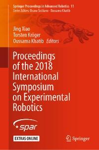 Cover Proceedings of the 2018 International Symposium on Experimental Robotics